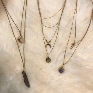 NWT Layered gemstone like necklace bundle